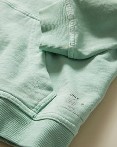 Garment Dyed French Terry Pullover Hoodie in Cool Mint - 10 - Onia