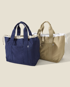 Linen Tote Bag in Navy - 14 - Onia