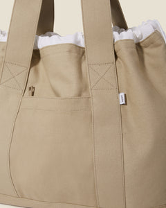 Linen Tote Bag in Dune - 7 - Onia