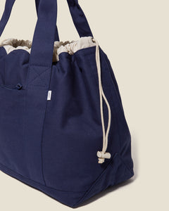 Linen Tote Bag in Navy - 15 - Onia