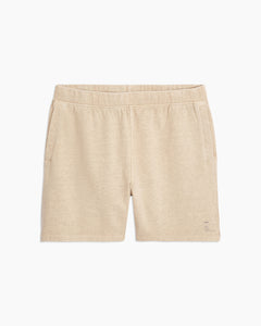 Garment Dyed French Terry Short in Heather Oatmeal - 1 - Onia