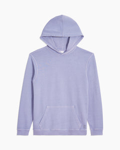 Garment Dyed French Terry Pullover Hoodie in Pale Iris - 1 - Onia