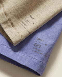 Garment Dyed Jersey Crewneck Tee in Heather Oatmeal - 27 - Onia