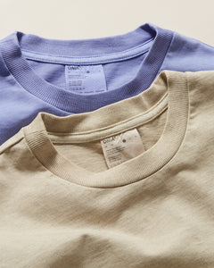 Garment Dyed Jersey Crewneck Tee in Heather Oatmeal - 30 - Onia
