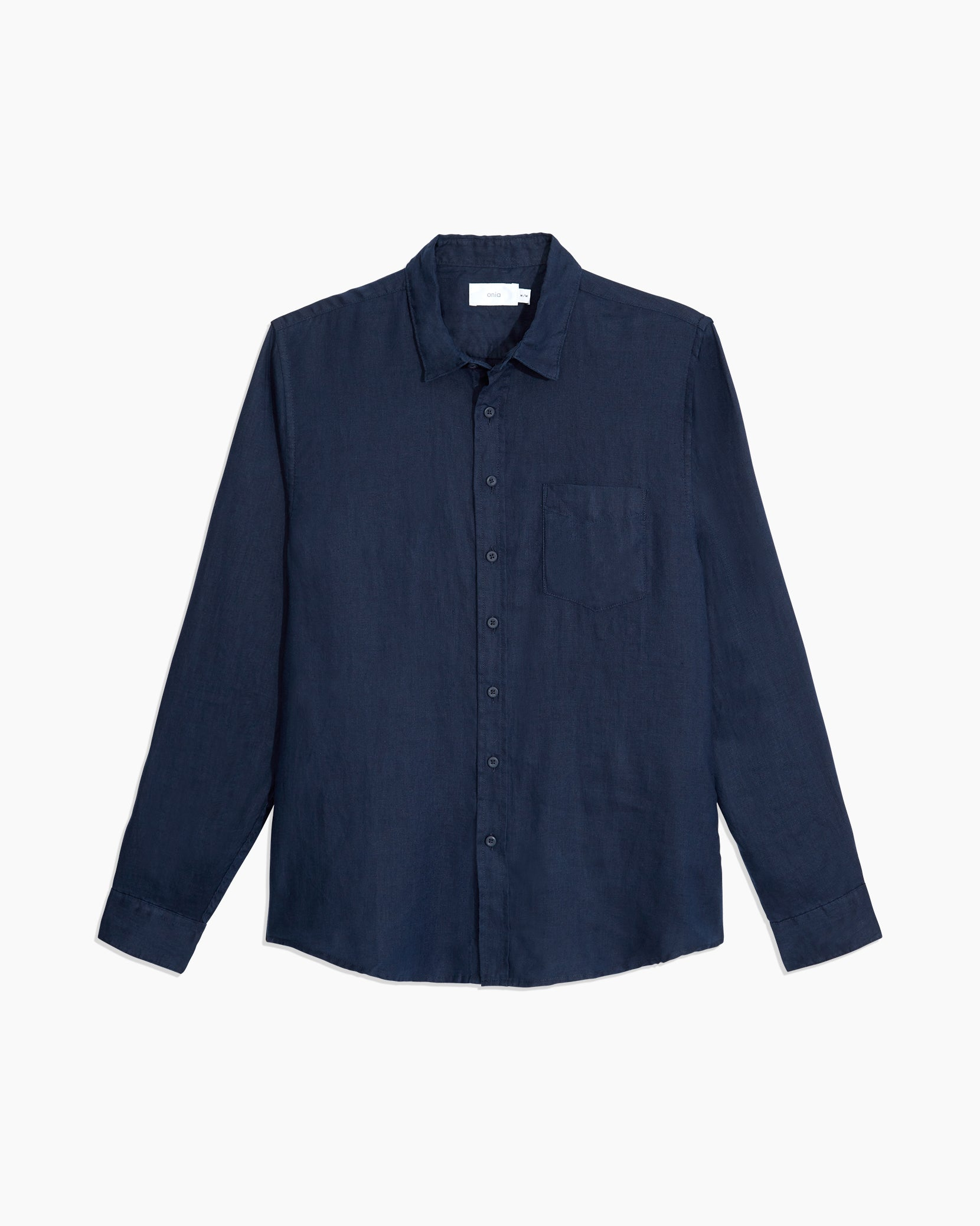 Abe Linen Shirt in Deep Navy - 1 - Onia