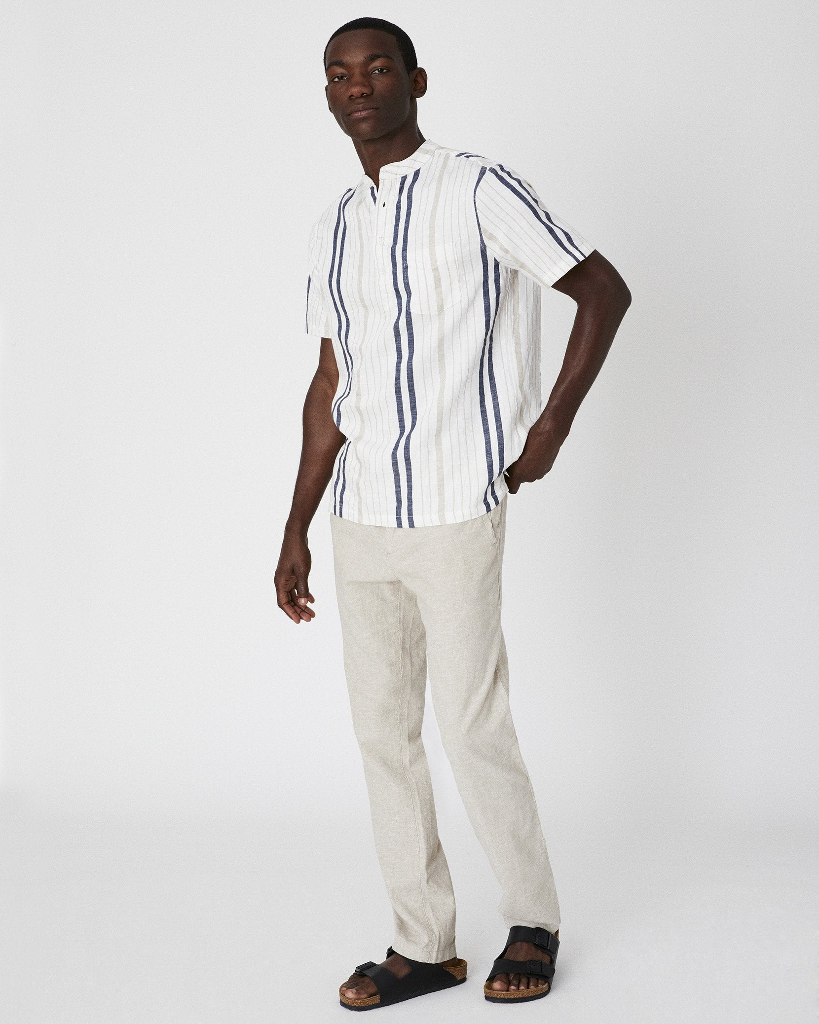 Collin Linen Pant in Dune - 5 - Onia