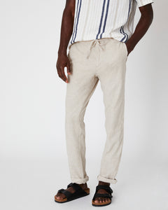 Collin Linen Pant in Dune - 6 - Onia