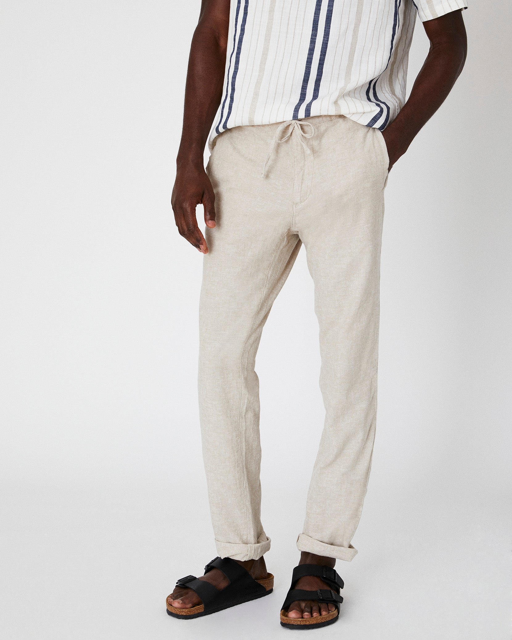 Collin Linen Pant in Dune - 3 - Onia