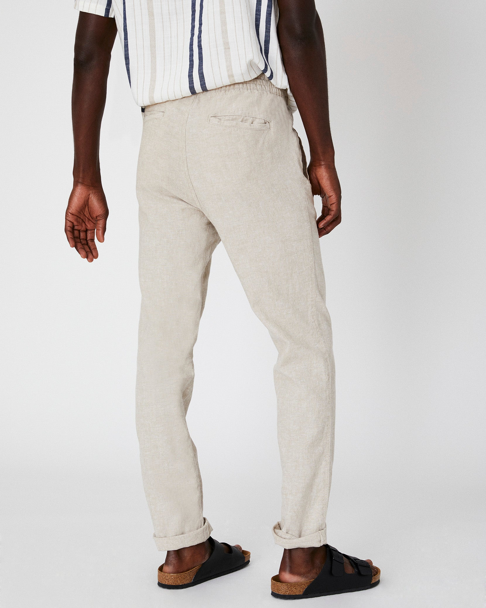 Collin Linen Pant in Dune - 4 - Onia