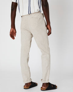 Collin Linen Pant in Dune - 9 - Onia