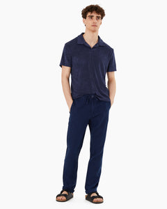 Collin Linen Pant in Deep Navy - 3 - Onia