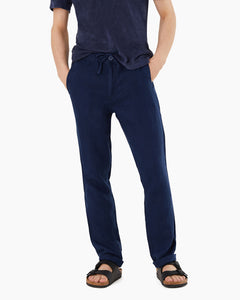 Collin Linen Pant in Deep Navy - 2 - Onia