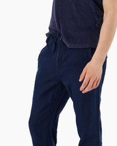Collin Linen Pant in Deep Navy - 5 - Onia