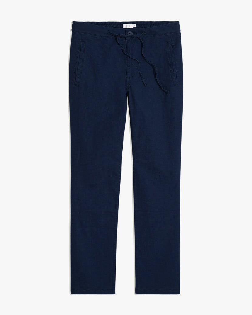 Collin Linen Pant in Deep Navy - 11 - Onia