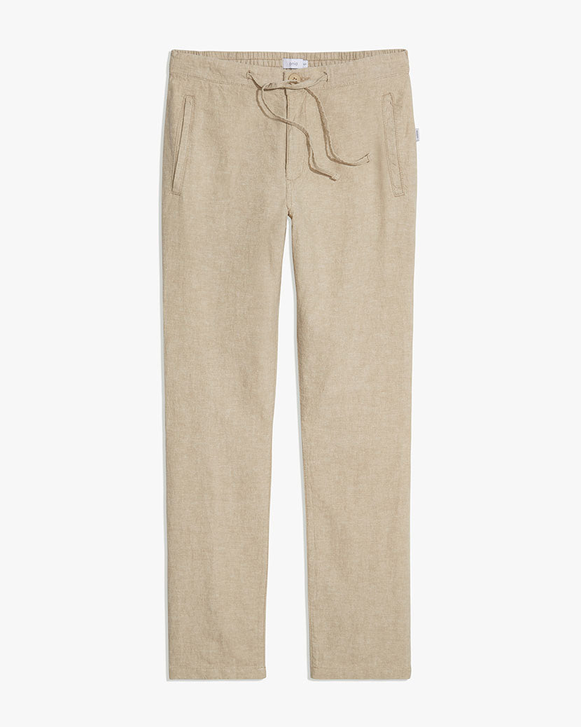 Collin Linen Pant in Dune - 1 - Onia