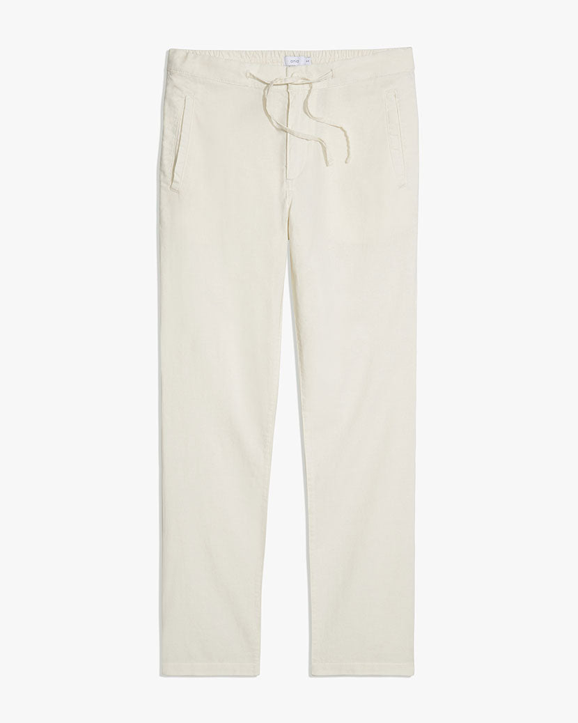 Collin Linen Pant in White - 10 - Onia