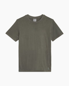 Garment Dyed Jersey Crewneck Tee in Charcoal - 33 - Onia