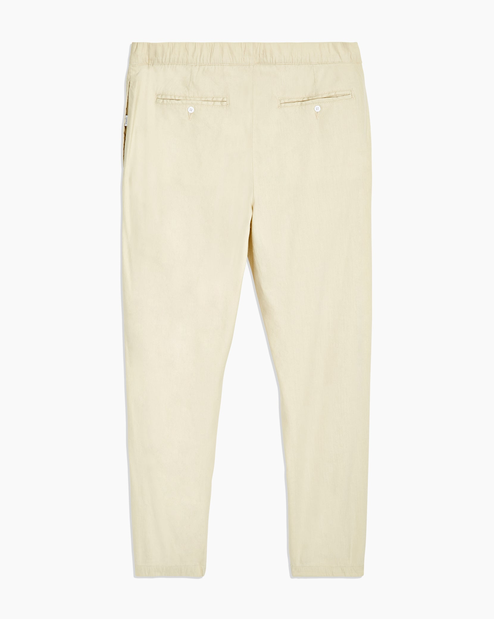 Elijah Stretch Linen Pant in Beige - 2 - Onia
