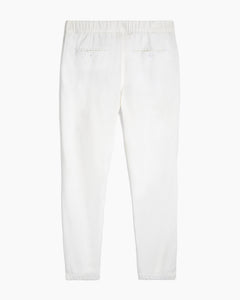 Elijah Herringbone Stretch Linen Pant in White - 5 - Onia