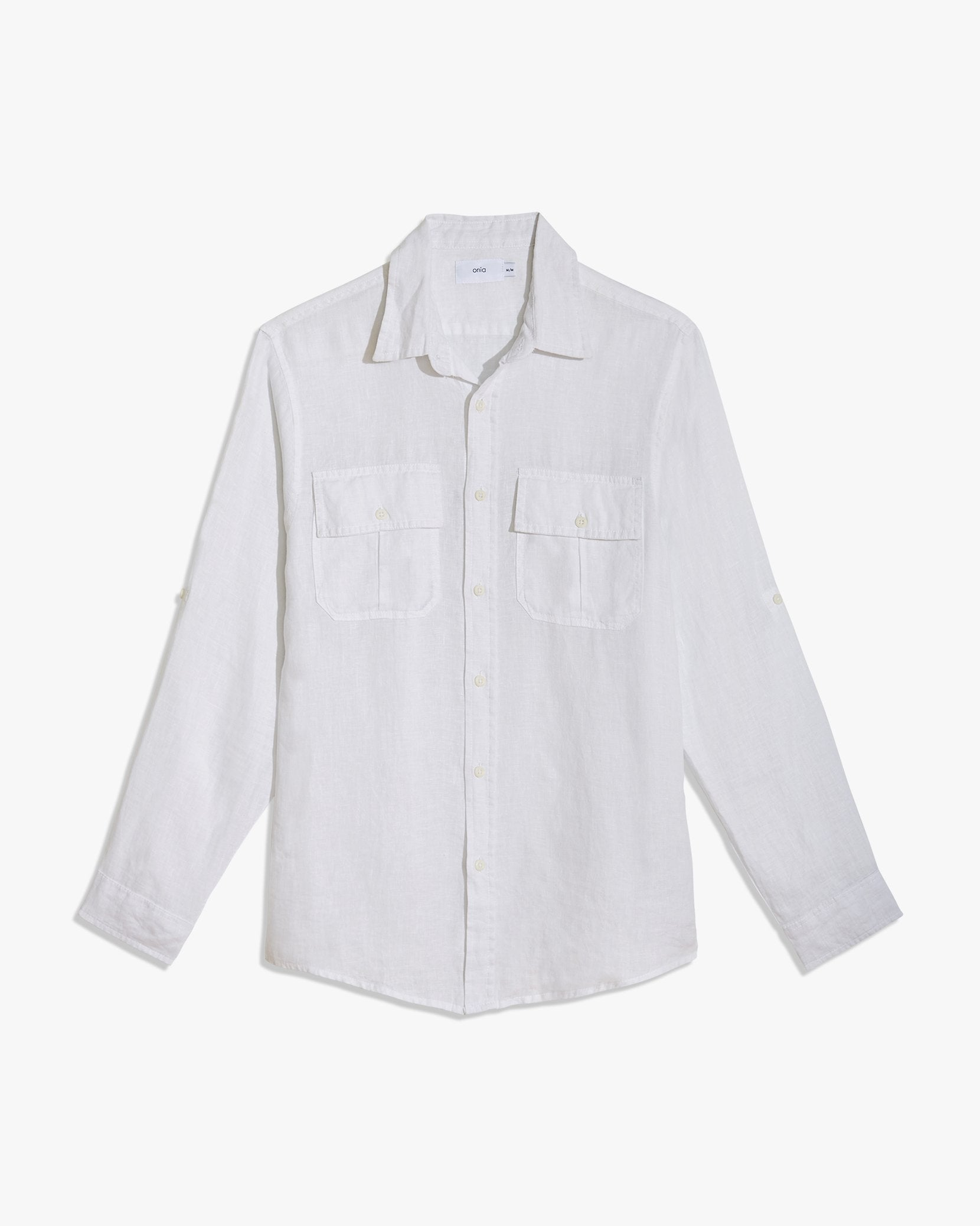 Garret Linen Shirt in White - 1 - Onia