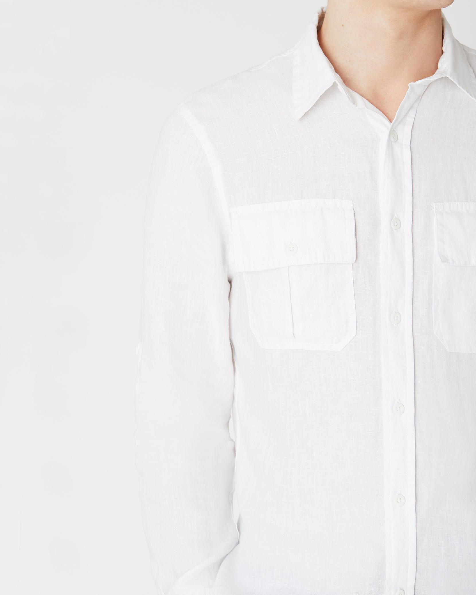 Garret Linen Shirt in White - 3 - Onia
