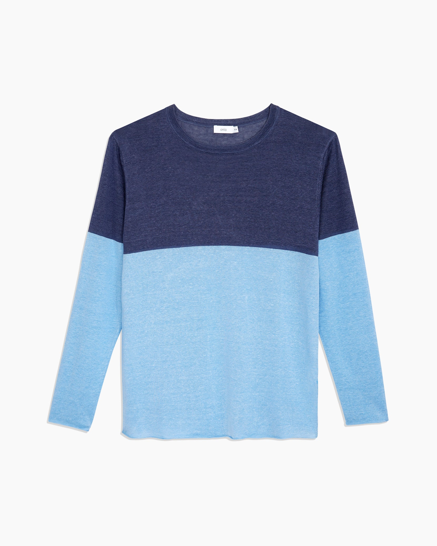 Kevin Crewneck Sweater in Safari Sky - 6 - Onia