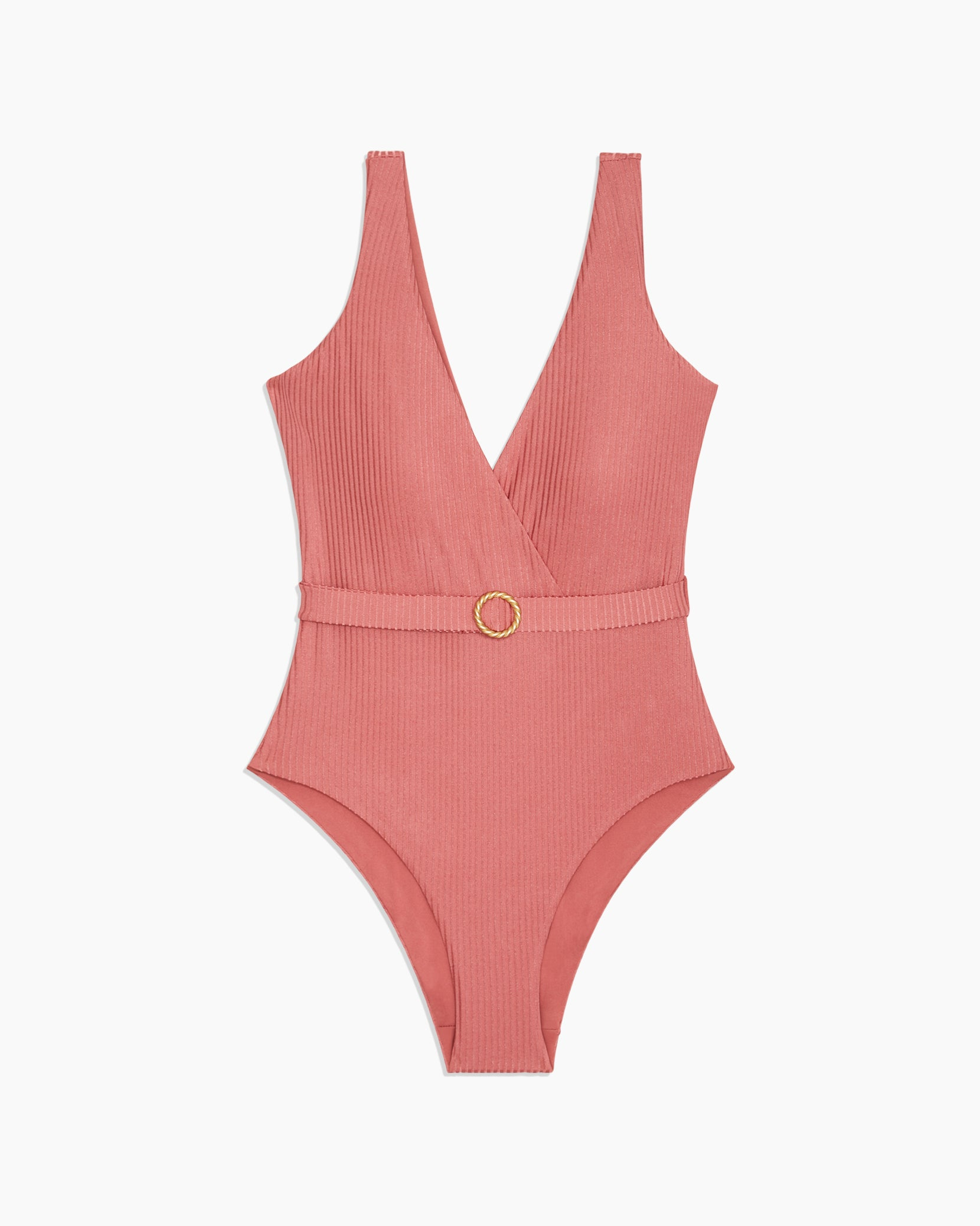 Michelle Shimmer Rib One Piece in Dusty Rose - 6 - Onia