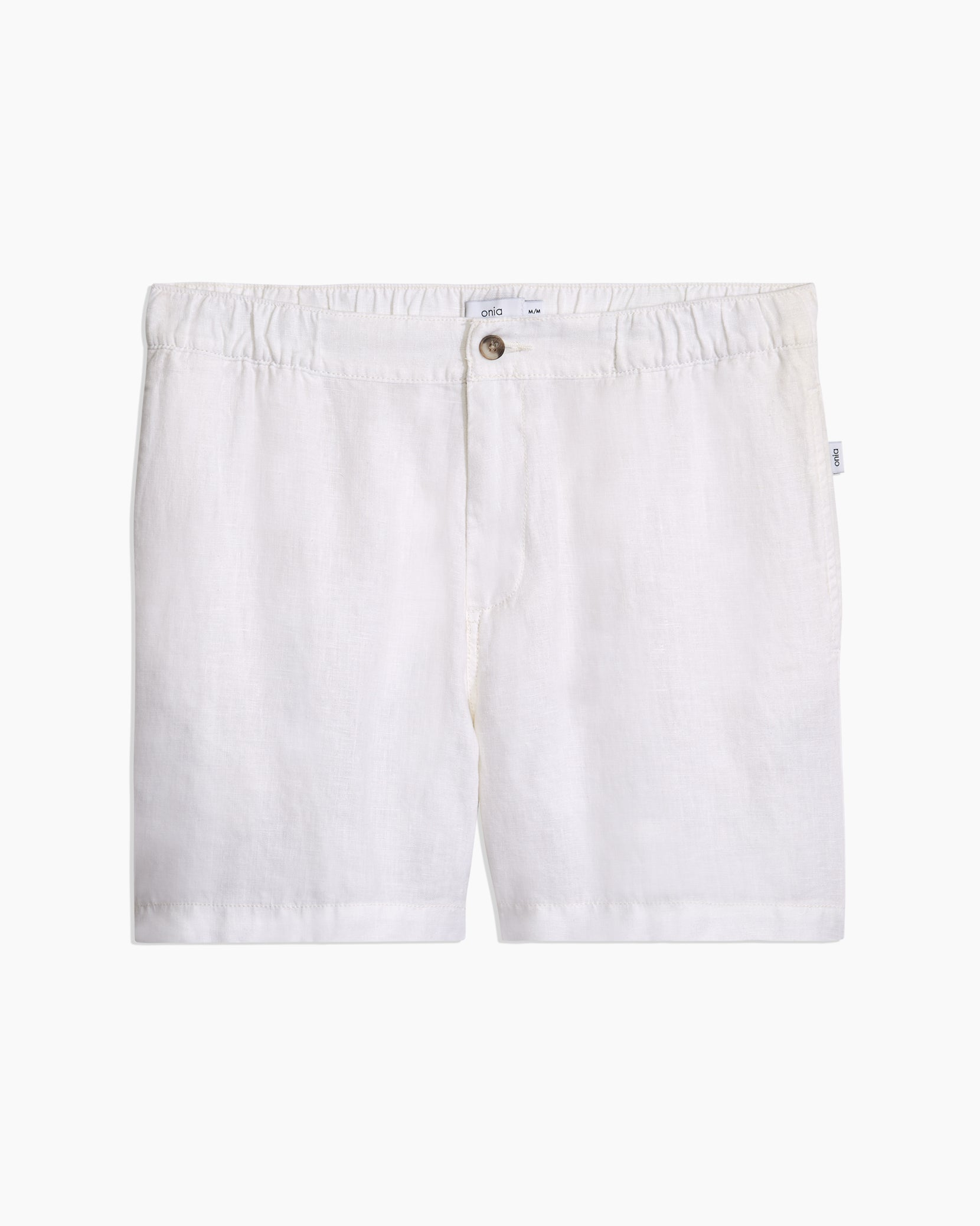 Moe Linen Shorts in White - 11 - Onia