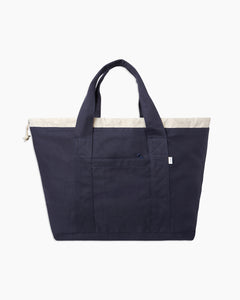 Linen Tote Bag in Navy - 9 - Onia