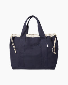 Linen Tote Bag in Navy - 10 - Onia