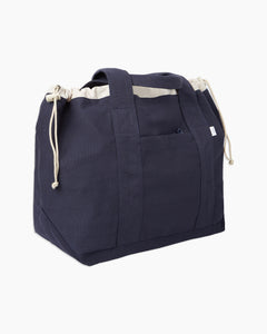 Linen Tote Bag in Navy - 12 - Onia