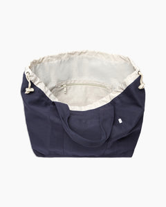 Linen Tote Bag in Navy - 13 - Onia