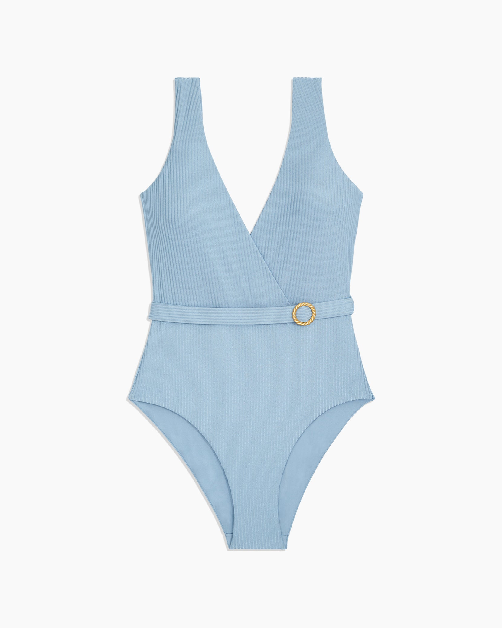 Shimmer Rib Michelle One Piece in Captain Blue - 6 - Onia