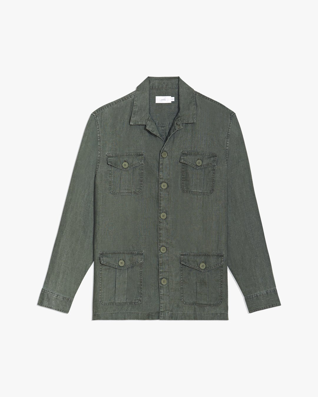 Linen Safari Jacket in Deep Sage - 9 - Onia