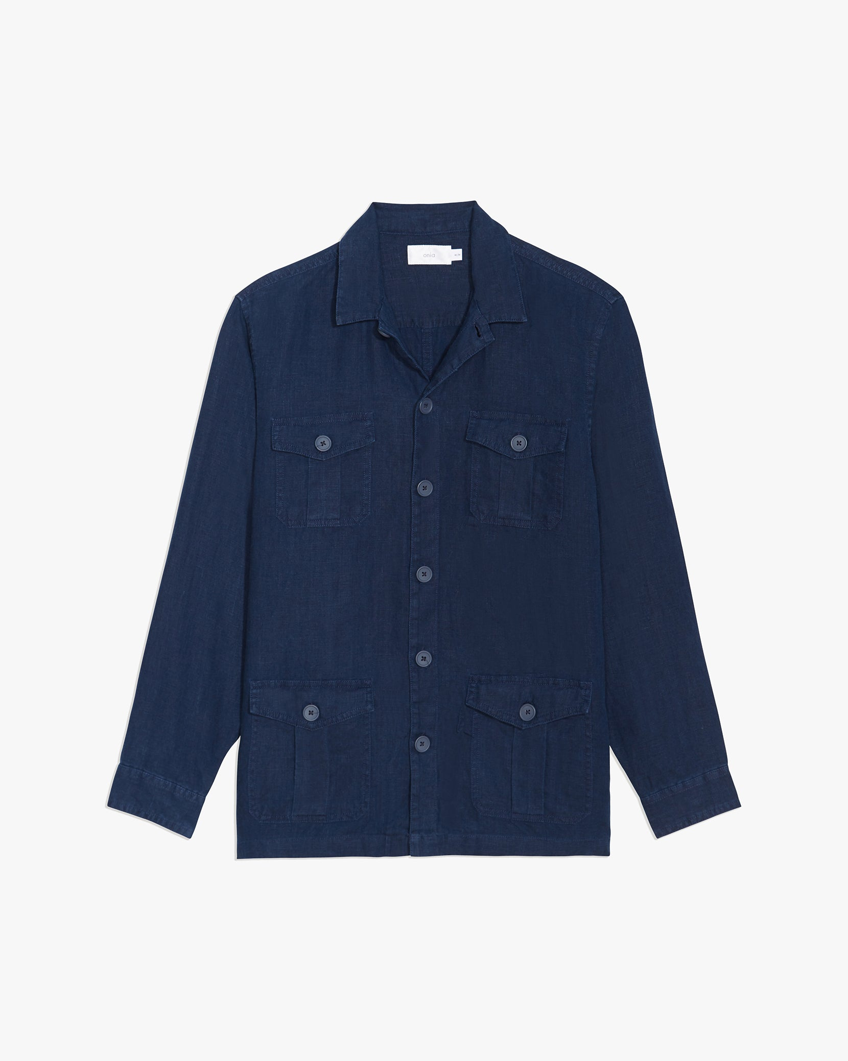 Linen Safari Jacket in Deep Navy - 10 - Onia