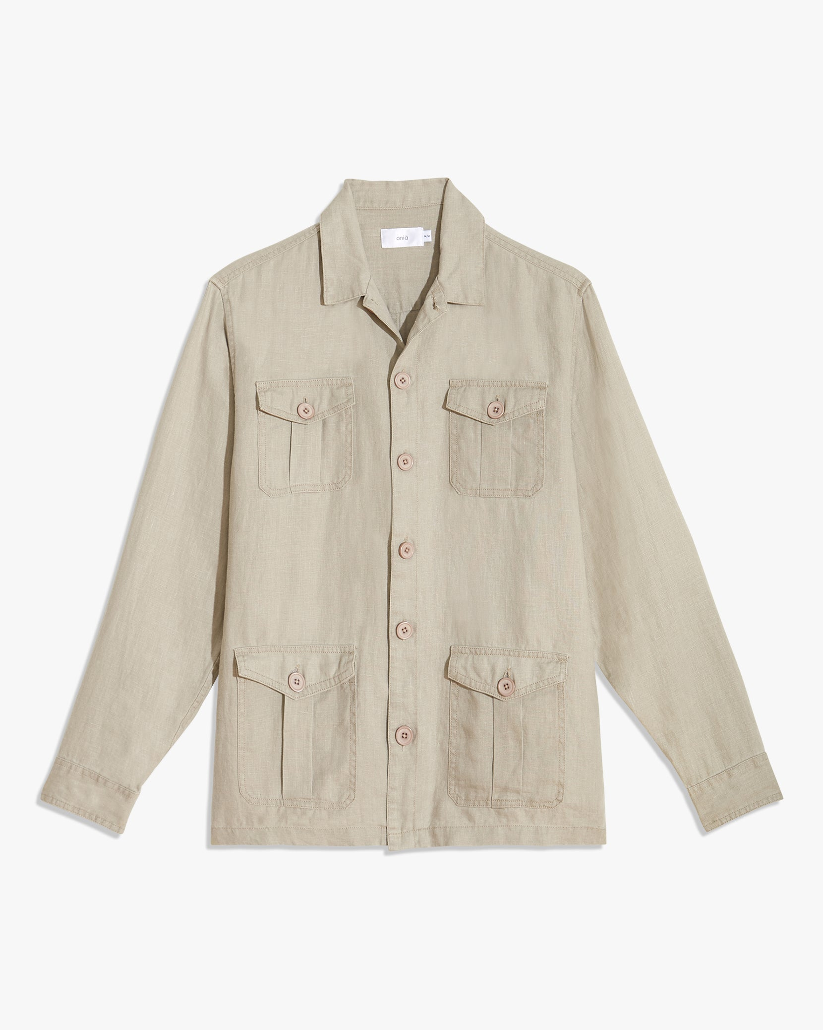 Linen Safari Jacket in Dune - 1 - Onia