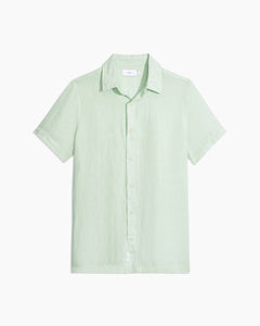 Samuel Chambray Shirt in Cool Mint - 1 - Onia
