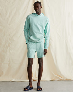 Garment Dyed French Terry Short in Cool Mint - 12 - Onia