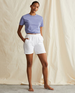 Garment Dyed French Terry Short in White - 28 - Onia