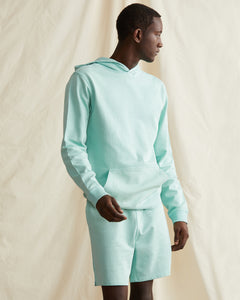 Garment Dyed French Terry Short in Cool Mint - 10 - Onia