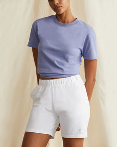 Garment Dyed French Terry Short in White - 27 - Onia