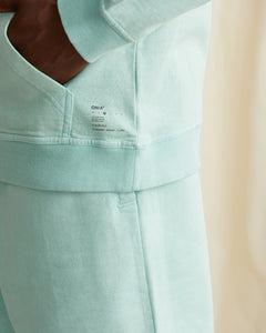 Garment Dyed French Terry Pullover Hoodie in Cool Mint - 9 - Onia