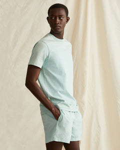 Garment Dyed Jersey Crewneck Tee in Cool Mint - 2 - Onia