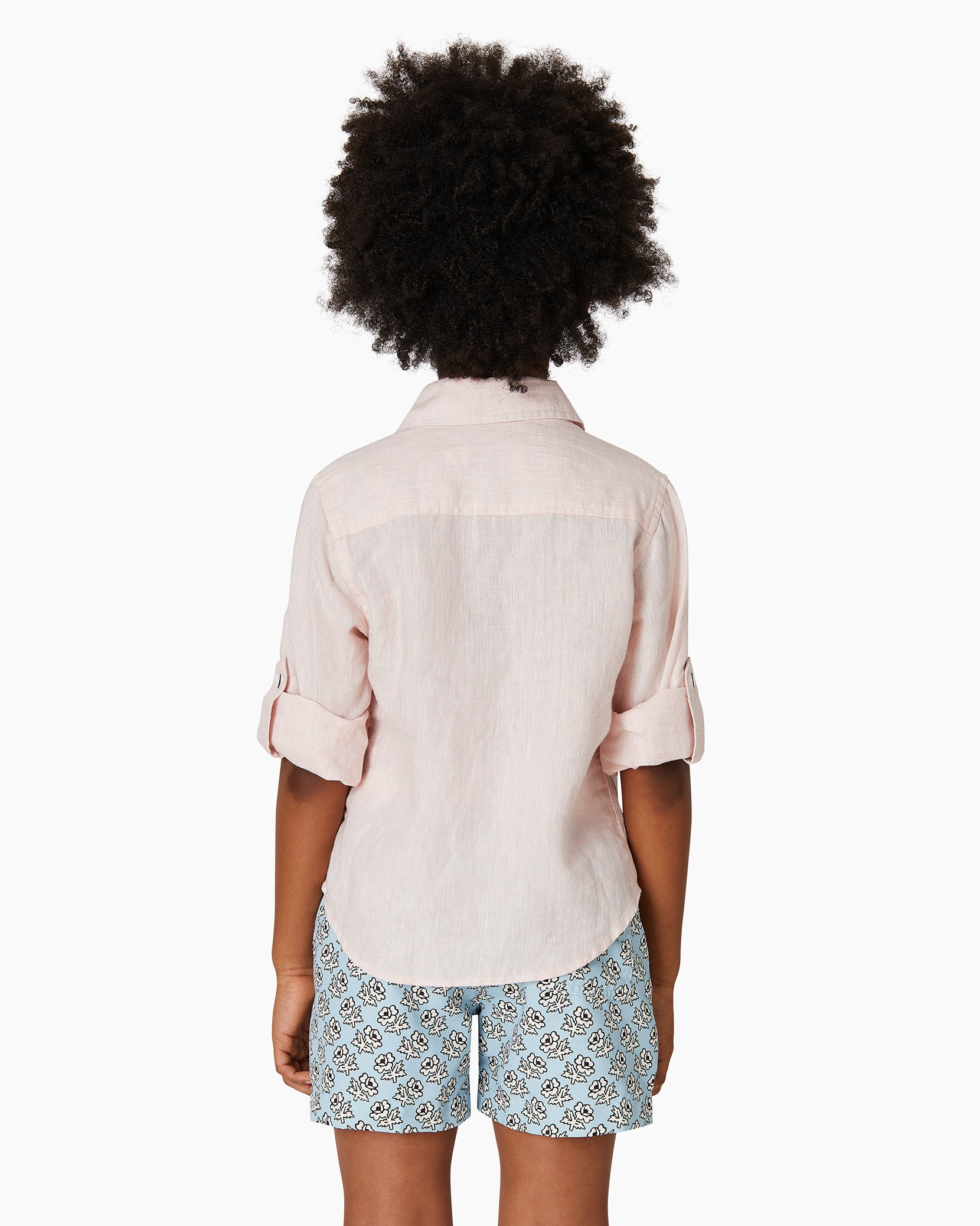 Boys Linen Garret Shirt in Petal - 9 - Onia