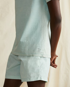 Garment Dyed Jersey Crewneck Tee in Cool Mint - 3 - Onia