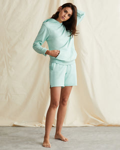 Garment Dyed French Terry Pullover Hoodie in Cool Mint - 14 - Onia