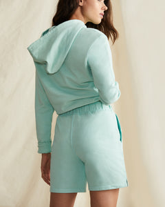 Garment Dyed French Terry Short in Cool Mint - 15 - Onia