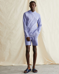 Garment Dyed French Terry Pullover Hoodie in Pale Iris - 2 - Onia