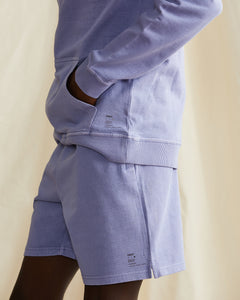 Garment Dyed French Terry Pullover Hoodie in Pale Iris - 4 - Onia