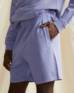 Garment Dyed French Terry Short in Pale Iris - 24 - Onia